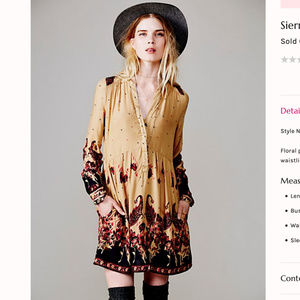 "Free people ""sierra valley"" dress"
